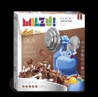 Zbożowe kółeczka kakaowe dla dzieci – umysł –Milzu, 200g –Milzu, 200g
