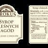 Syrop z leśnych jagód –Krokus, 300ml
