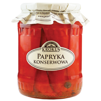 Papryka konserwowa –Krokus, 670g –Krokus, 670g