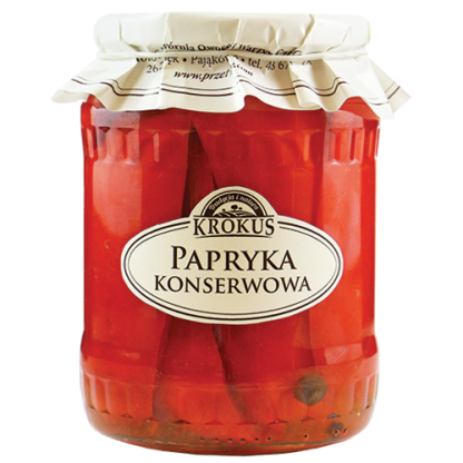 Papryka konserwowa –Krokus, 670g