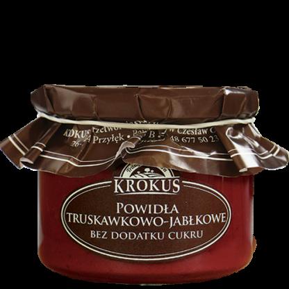 Powidła truskawkowo-jabłkowe bez dodatku cukru –Krokus, 310g