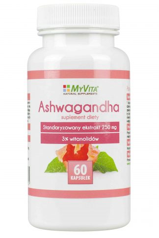Ashwagandha- odporność, dobry nastrój –MyVita, 60kapsułek,120kapsułek