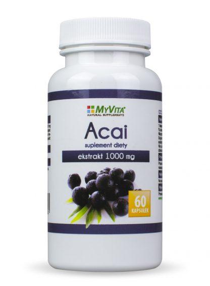 Acai- silny przeciwutleniacz –MyVita, 60kapsułek,250kapsułek