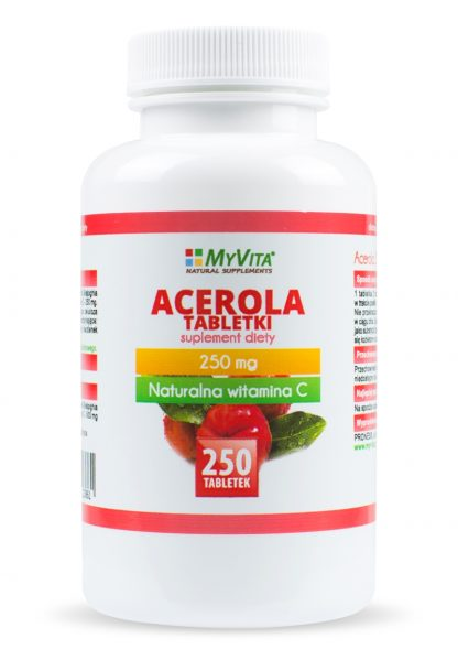 Acerola- naturalna witamina C –MyVita, 100tabletek,250tabletek
