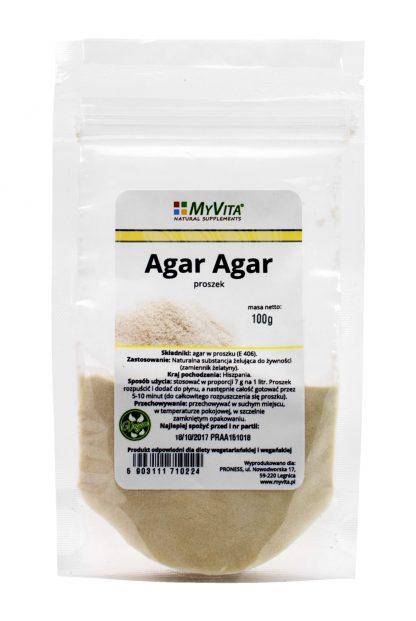 Agar Agar- naturalna żelatyna –MyVita, 30g,100g