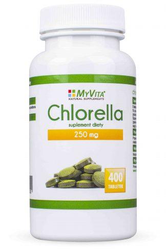 Chlorella- detoks, regeneracja –MyVita, 400tabletek,1000tabletek –MyVita, 400tabletek,1000tabletek