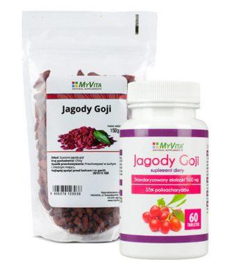 Jagody goji tabletki 500 mg- owoce młodości –MyVita, 60tabletek