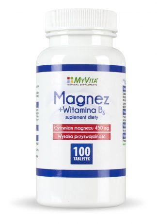 Magnez + witamina B6 –MyVita, 100tabletek,250tabletek –MyVita, 100tabletek,250tabletek