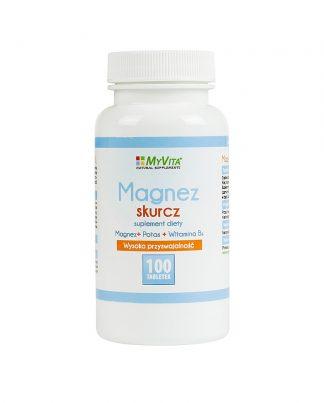Magnez skurcz (magnez + potas + B6) –MyVita, 100tabletek,250tabletek –MyVita, 100tabletek,250tabletek