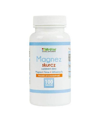 Magnez skurcz (magnez + potas + B6) –MyVita, 100tabletek,250tabletek