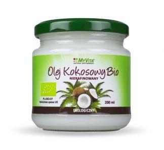Olej kokosowy nierafinowany BIO –MyVita, 200ml –MyVita, 200ml