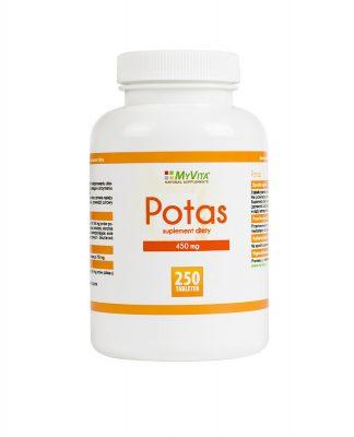 Potas (cytrynian potasu) –MyVita, 100tabletek,250tabletek –MyVita, 100tabletek,250tabletek