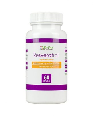 Resveratrol 250mg- młodość –MyVita, 60kapsułek –MyVita, 60kapsułek