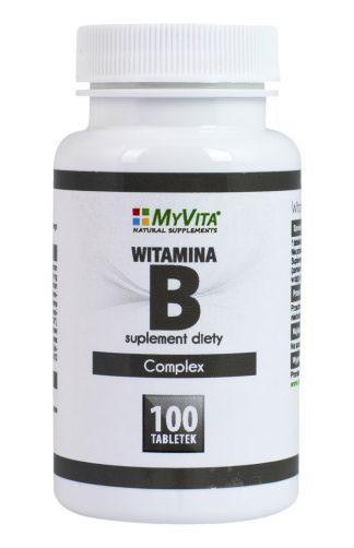 Witamina B-Complex –MyVita, 100tabletek,250tabletek –MyVita, 100tabletek,250tabletek