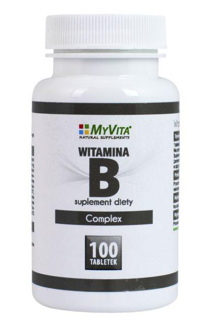 Witamina B-Complex –MyVita, 100tabletek,250tabletek