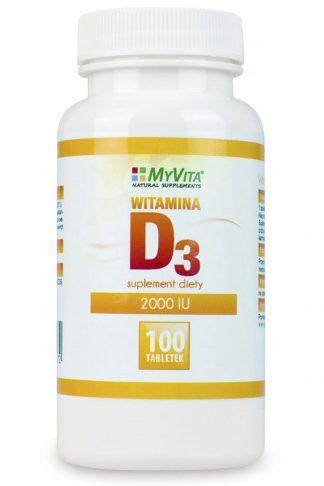 Witamina D3 4000 J.M. tabletki –MyVita, 100tabletek,250tabletek –MyVita, 100tabletek,250tabletek