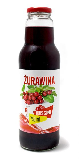 Sok z żurawiny 100% bez cukru – Look Food, 750 ml