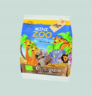 Herbatniki pszenne bio mini zoo –Bioania, 100g –Bioania, 100g