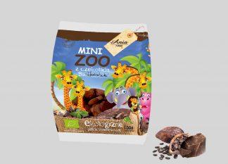Herbatniki pszenne bio z czekoladą mini zoo –Bioania, 100g –Bioania, 100g