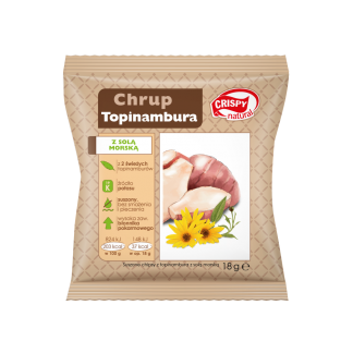 Chipsy z topinambura z solą morską – Crispy Natural, 18g