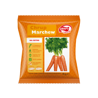 Chipsy z marchwi z naturalnymi przyprawami –CrispyNatural, 18g –CrispyNatural, 18g