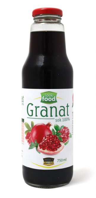 Sok z granatu 100% bez cukru – Look Food, 750 ml
