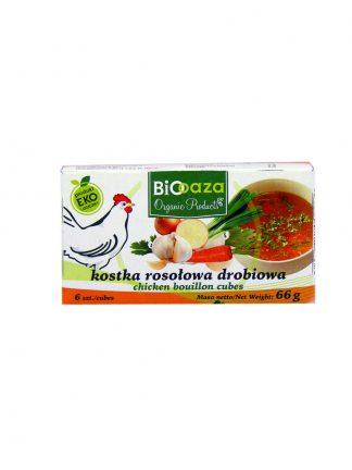 Kostka rosołowa drobiowa bio –Biooaza, 66g