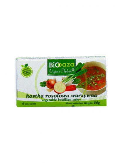 Kostka rosołowa warzywna bio –Biooaza, 66g
