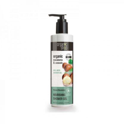 Żel pod prysznic odżywczy- kenijskie orzechy makadamia –OrganicShop, 280ml