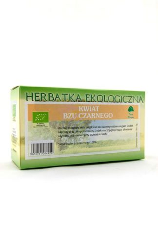 Bez czarny- kwiat- herbatka ekspresowa eko –DaryNatury, 40g –DaryNatury, 40g