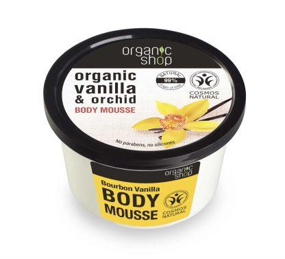 Mus do ciała burbońska wanilia –OrganicShop, 250ml
