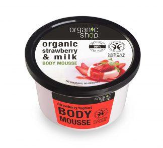 Mus do ciała truskawkowy jogurt –OrganicShop, 250ml