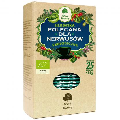 Herbatka ekspresowa dla nerwusów Eko –DaryNatury, 25saszetekpo1,5g