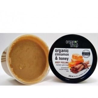Scrub do ciała miód cynamon –OrganicShop, 250ml