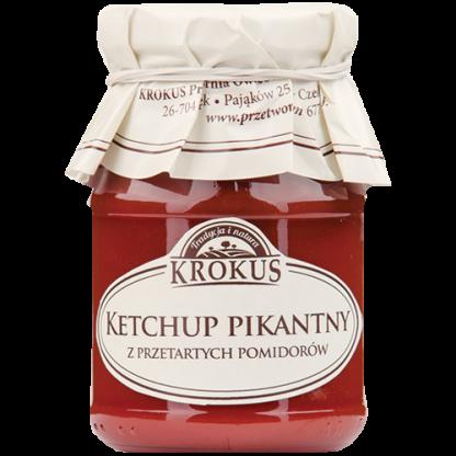 Ketchup naturalny pikantny –Krokus, 180g