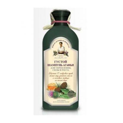 Gęsty, ziołowy szampon wzmacniający- włosy cienkie i osłabione –Agafii, 350ml