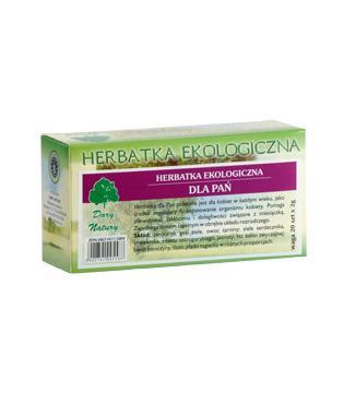 Herbatka dla Pań Eko- herbatka ekspresowa –DaryNatury, 20saszetekpo2g –DaryNatury, 20saszetekpo2g