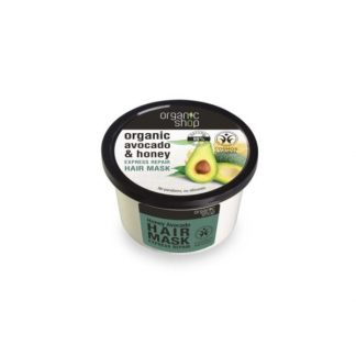 Maska do włosów z miodem i awokado –OrganicShop, 250ml –OrganicShop, 250ml