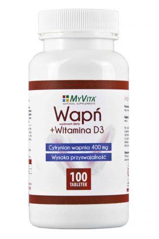 Wapń + witamina D3 –MyVita, 100tabletek