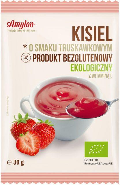Kisiel o smaku truskawkowym bezglutenowy BIO –Amylon, 30g