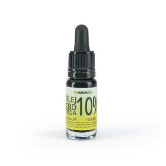 Olej z konopi 10% 1000mg CBD+CBDA –Biokonopia, 10ml