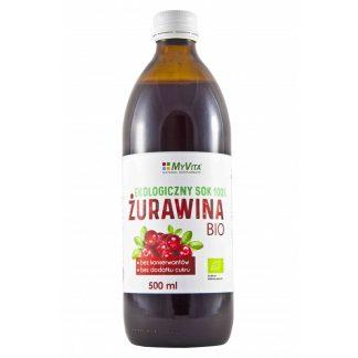 Ekologiczny sok z Żurawiny BIO –MyVita, 500ml –MyVita, 500ml