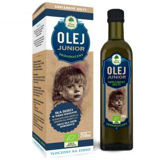 Olej Junior dla Dzieci Ekologiczny –DaryNatury, 250ml –DaryNatury, 250ml