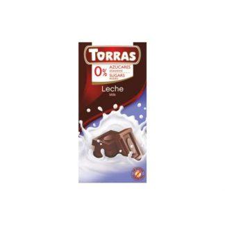 Czekolada mleczna bez dodatku cukru –Torras, 75g
