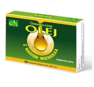 Olej z wiesiołka w kapsułkach –GAL, 60kapsułek