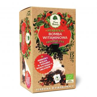 Herbatka bomba witaminowa- piramidki –DaryNatury, 15saszetekpo3g –DaryNatury, 15saszetekpo3g
