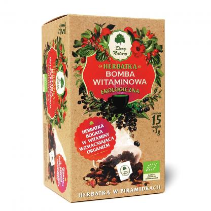 Herbatka bomba witaminowa- piramidki –DaryNatury, 15saszetekpo3g