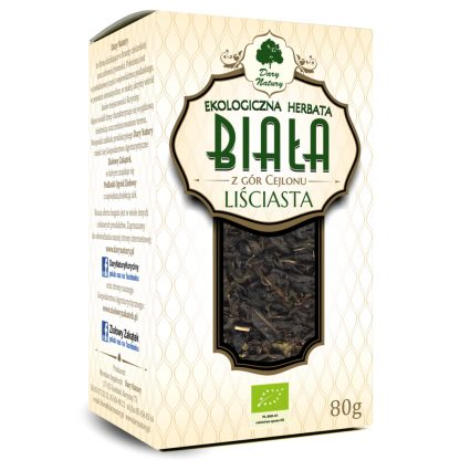 Herbata biała liściasta Eko –DaryNatury, 80g