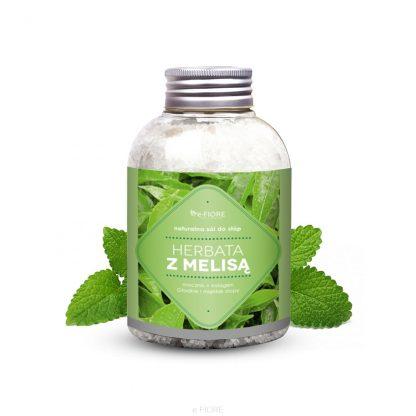 Naturalna sól do STÓP z MOCZNIKIEM i KOLAGENEM jodowo-bromowa Melisa z Herbatą –Fiore, 500g
