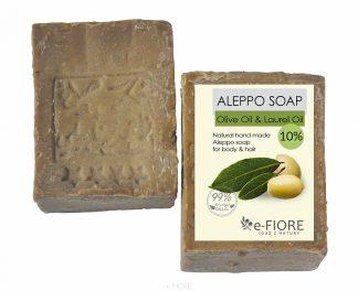 Mydło Aleppo oliwkowo-laurowe 10% CERA SUCHA i NORMALNA –Fiore, 190g –Fiore, 190g